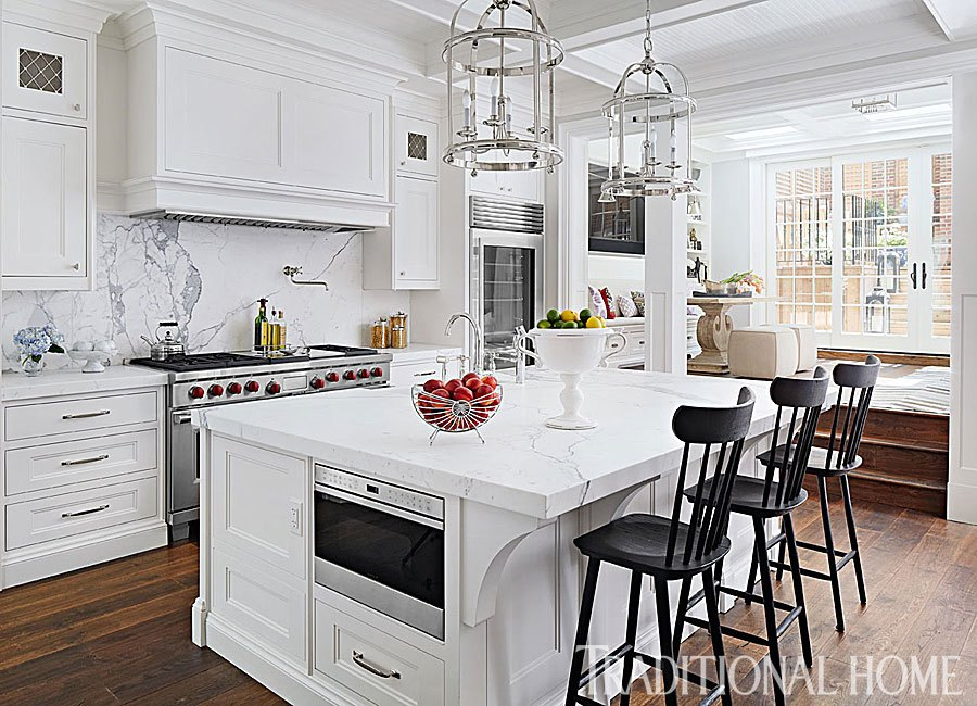 "The decorating veteran said, ""She loves traditional lines but always wants something unique and different. What I love as a designer is that she allows the space to indicate the direction of the design but always wants to add something bold and unexpected. One thing people may not know is that Giuliana has an incredible eye for contemporary art and is quite the art aficionado."""